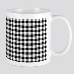Black And White Gingham Mug