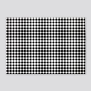 Black And White Gingham 5'x7'Area Rug
