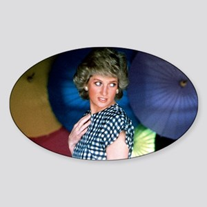 HRH Princess Diana Iconic! Sticker (Oval)