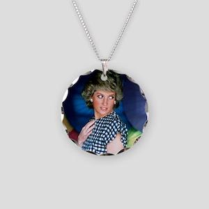 HRH Princess Diana Iconic! Necklace Circle Charm