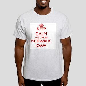 Keep calm we live in Norwalk Iowa T-Shirt