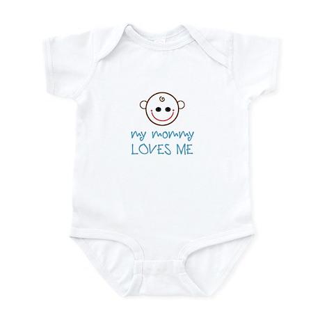 My mommy loves me baby face Infant Bodysuit