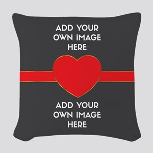Lovers - Add Your Own Images Woven Throw Pillow