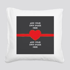 Lovers - Add Your Own Images Square Canvas Pillow