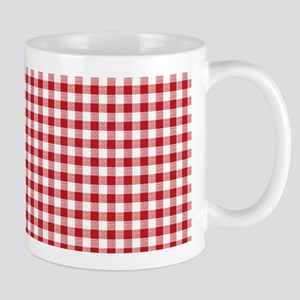 Red Gingham Pattern Mug