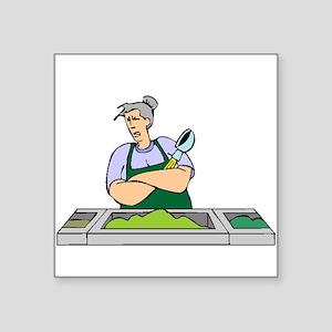 Cafeteria Worker Sticker