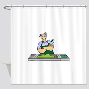Cafeteria Worker Shower Curtain