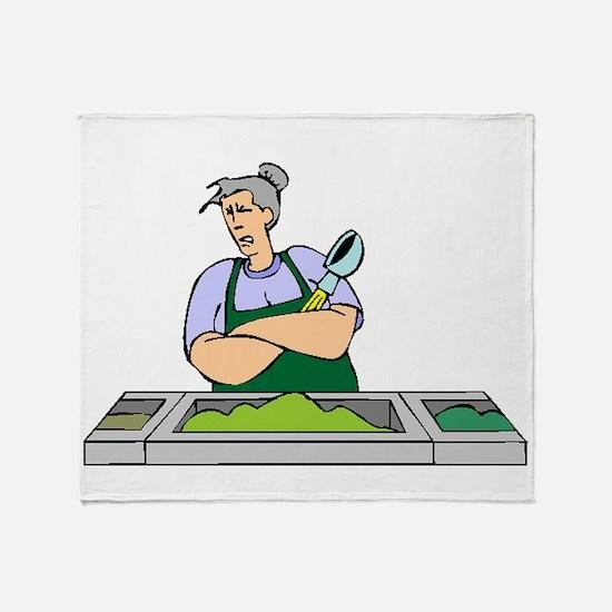 Cafeteria Worker Throw Blanket