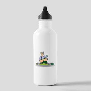 Cafeteria Worker Water Bottle