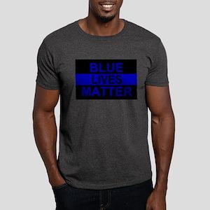 Blue Lives Matter Stripe Dark T-Shirt