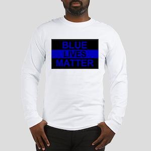 Blue Lives Matter Stripe Long Sleeve T-Shirt