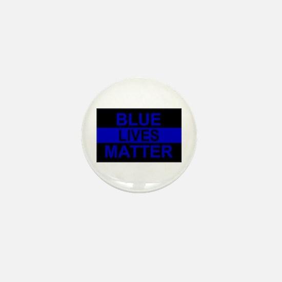 Blue Lives Matter Stripe Mini Button