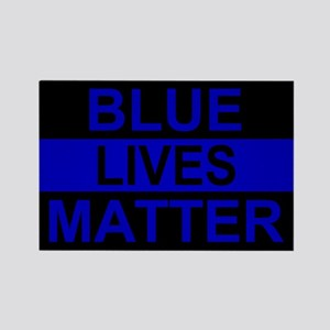 Blue Lives Matter Stripe Rectangle Magnet