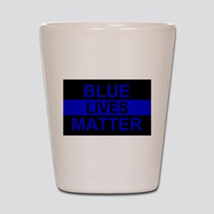 Blue Lives Matter Stripe Shot Glass