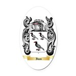 Iban Oval Car Magnet