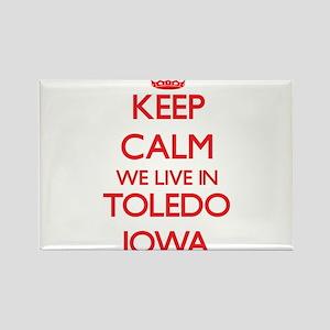 Keep calm we live in Toledo Iowa Magnets