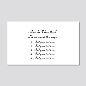 How Do I Love Thee - Your Text Wall Decal