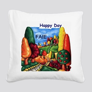 Happy Day Ep Square Canvas Pillow