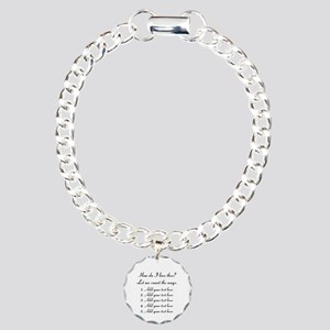 How Do I Love Thee - Your Text Bracelet