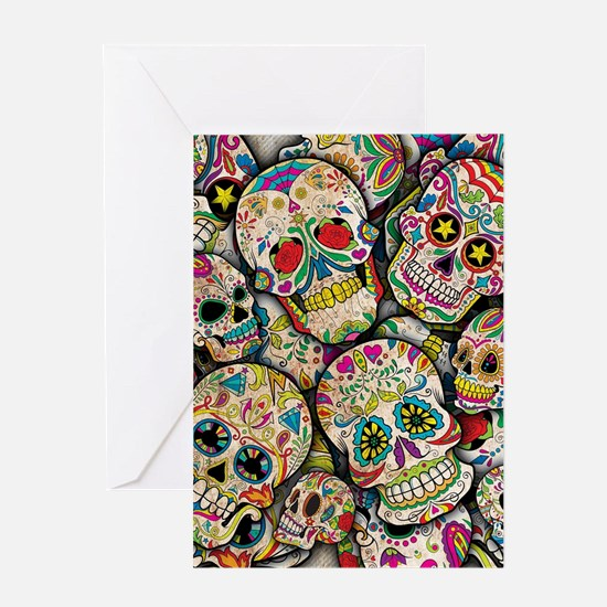 Unique Day dead Greeting Card