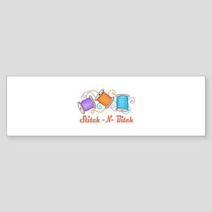 STITCH-N-BITCH Bumper Sticker