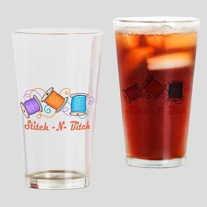 STITCH-N-BITCH Drinking Glass
