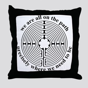 Finger Labyrinth Throw Pillow