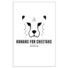 Humans For Cheetahs Large Poster