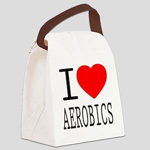 i love aerobics - hobby Canvas Lunch Bag