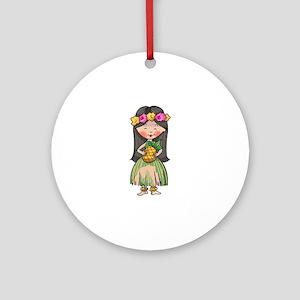 HULA DANCER Ornament (Round)