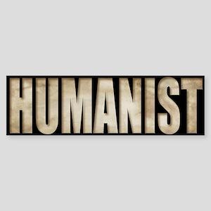 Humanist Bumper Sticker (parchment)