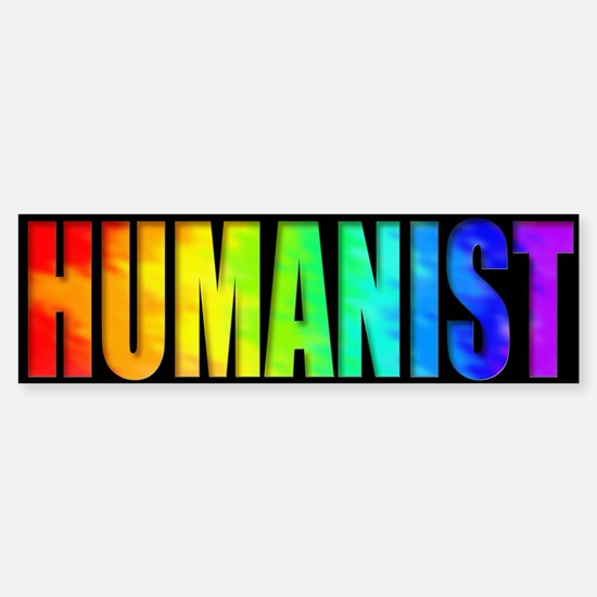 Humanist Bumper Sticker (rainbow)