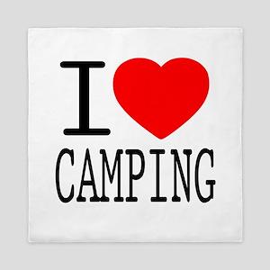 I Love | Heart Camping Queen Duvet
