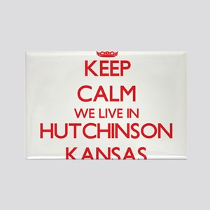 Keep calm we live in Hutchinson Kansas Magnets