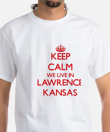 Keep calm we live in Lawrence Kansas T-Shirt