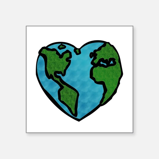 "Cute Peace tree Square Sticker 3"" x 3"""