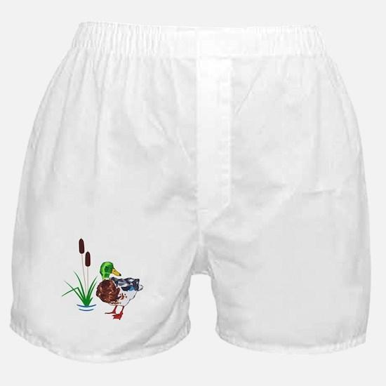 MALLARD AND CATTAILS Boxer Shorts