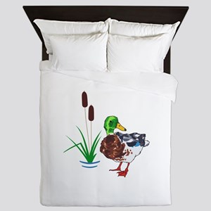 MALLARD AND CATTAILS Queen Duvet