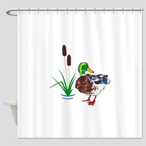 MALLARD AND CATTAILS Shower Curtain