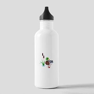 MALLARD AND CATTAILS Water Bottle