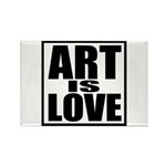 Art Is Love Rectangle Magnet (10 pack)
