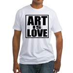 Art Is Love Fitted T-Shirt