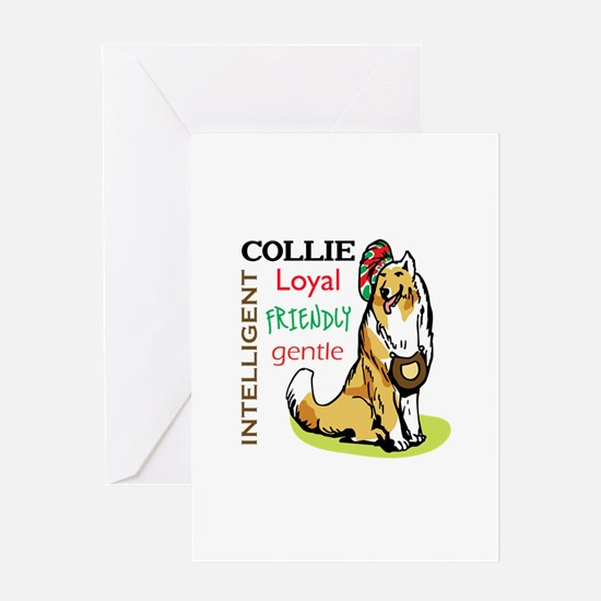 COLLIE TRAITS Greeting Cards