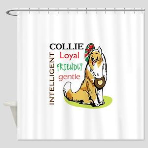 COLLIE TRAITS Shower Curtain