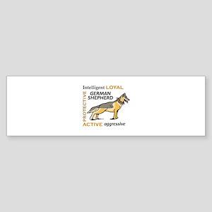 GERMAN SHEPHERD TRAITS Bumper Sticker