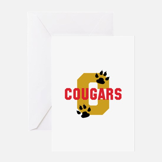 C COUGARS Greeting Cards