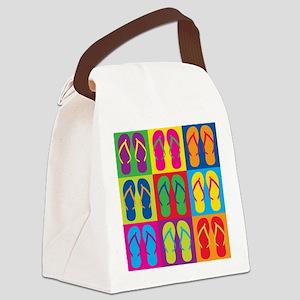 Pop Art Flip Flops Canvas Lunch Bag