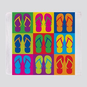 Pop Art Flip Flops Throw Blanket