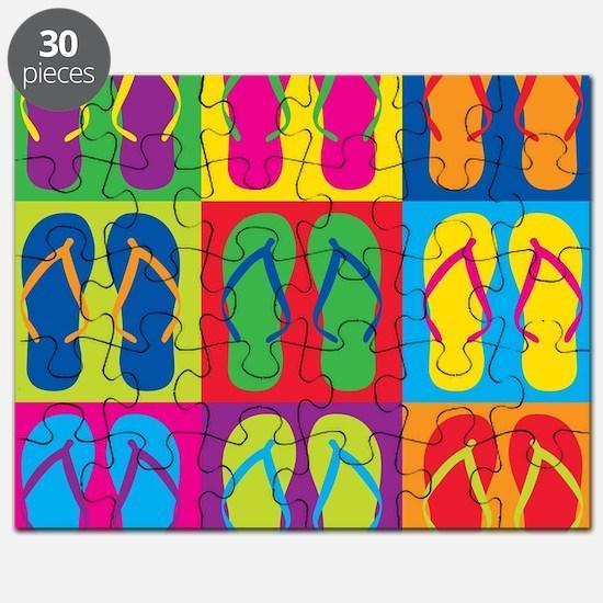 Pop Art Flip Flops Puzzle