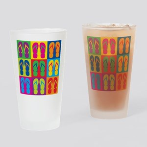 Pop Art Flip Flops Drinking Glass